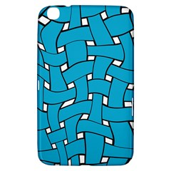 Blue Distorted Weave Samsung Galaxy Tab 3 (8 ) T3100 Hardshell Case