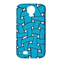 Blue Distorted Weave Samsung Galaxy S4 Classic Hardshell Case (pc+silicone)