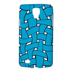 Blue Distorted Weave Samsung Galaxy S4 Active (i9295) Hardshell Case