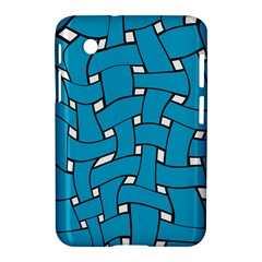 Blue distorted weave Samsung Galaxy Tab 2 (7 ) P3100 Hardshell Case