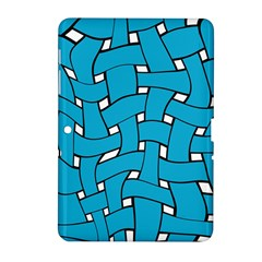 Blue Distorted Weave Samsung Galaxy Tab 2 (10 1 ) P5100 Hardshell Case