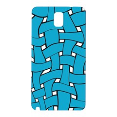 Blue distorted weave Samsung Galaxy Note 3 N9005 Hardshell Back Case