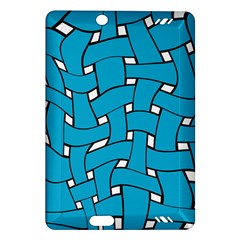 Blue Distorted Weave Kindle Fire Hd (2013) Hardshell Case