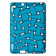 Blue distorted weave Kindle Fire HDX Hardshell Case