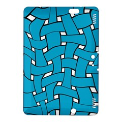 Blue Distorted Weave Kindle Fire Hdx 8 9  Hardshell Case