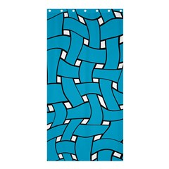 Blue Distorted Weave Shower Curtain 36  X 72  (stall)