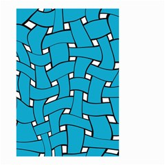 Blue Distorted Weave Small Garden Flag (two Sides)