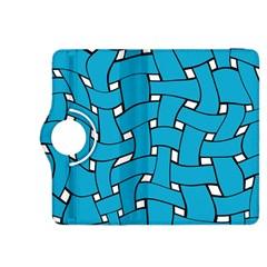 Blue distorted weave Kindle Fire HDX 8.9  Flip 360 Case
