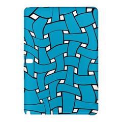 Blue Distorted Weave Samsung Galaxy Tab Pro 10 1 Hardshell Case