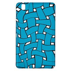 Blue Distorted Weave Samsung Galaxy Tab Pro 8 4 Hardshell Case