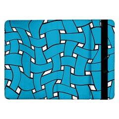 Blue distorted weave Samsung Galaxy Tab Pro 12.2  Flip Case