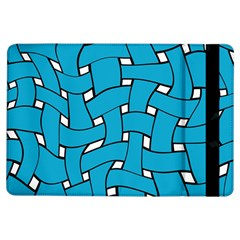 Blue Distorted Weave Apple Ipad Air Flip Case