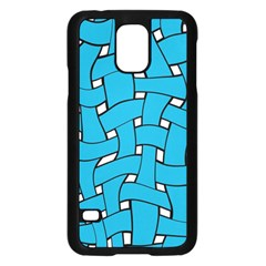 Blue Distorted Weave Samsung Galaxy S5 Case (black)