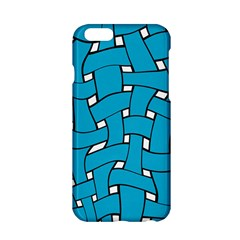 Blue distorted weave Apple iPhone 6 Hardshell Case