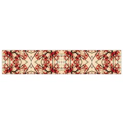 Floral Geometric Collage Flano Scarf (Small)