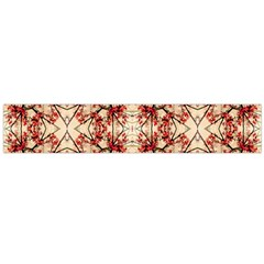 Floral Geometric Collage Flano Scarf (Large)