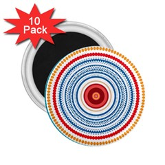 Colorful Round Kaleidoscope 2 25  Magnet (10 Pack)