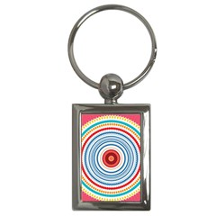 Colorful Round Kaleidoscope Key Chain (rectangle)