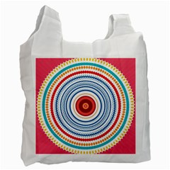 Colorful Round Kaleidoscope Recycle Bag (one Side)