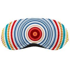Colorful Round Kaleidoscope Sleeping Mask