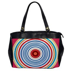 Colorful Round Kaleidoscope Oversize Office Handbag (one Side)