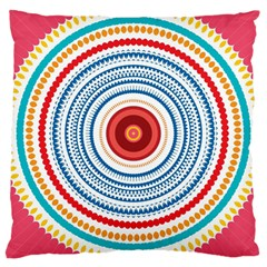 Colorful Round Kaleidoscope Large Cushion Case (two Sides)