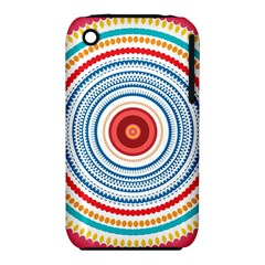 Colorful round kaleidoscope Apple iPhone 3G/3GS Hardshell Case (PC+Silicone)