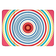 Colorful Round Kaleidoscope Samsung Galaxy Tab 8 9  P7300 Flip Case