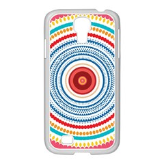 Colorful Round Kaleidoscope Samsung Galaxy S4 I9500/ I9505 Case (white)