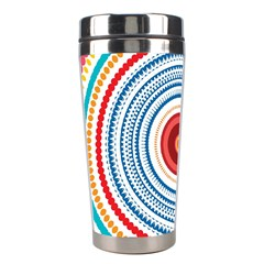Colorful round kaleidoscope Stainless Steel Travel Tumbler