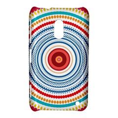 Colorful round kaleidoscope Nokia Lumia 620 Hardshell Case