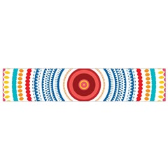 Colorful round kaleidoscope Flano Scarf (Small)