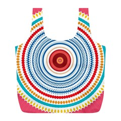 Colorful round kaleidoscope Full Print Recycle Bag (L)