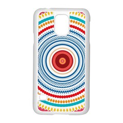 Colorful Round Kaleidoscope Samsung Galaxy S5 Case (white)