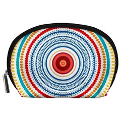 Colorful round kaleidoscope Accessory Pouch (Large)
