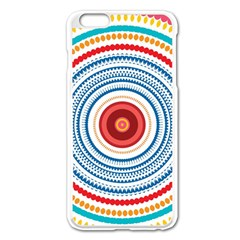 Colorful round kaleidoscope Apple iPhone 6 Plus Enamel White Case