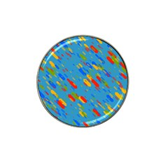 Colorful Shapes On A Blue Background Hat Clip Ball Marker (10 Pack)