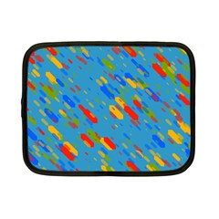 Colorful Shapes On A Blue Background Netbook Case (small)
