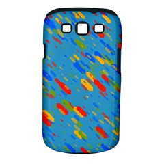 Colorful Shapes On A Blue Background Samsung Galaxy S Iii Classic Hardshell Case (pc+silicone)