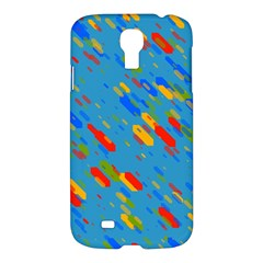Colorful Shapes On A Blue Background Samsung Galaxy S4 I9500/i9505 Hardshell Case