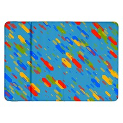 Colorful shapes on a blue background Samsung Galaxy Tab 8.9  P7300 Flip Case