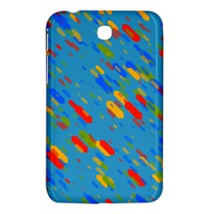 Colorful shapes on a blue background Samsung Galaxy Tab 3 (7 ) P3200 Hardshell Case