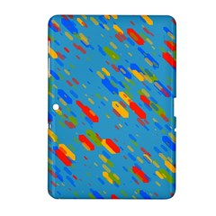 Colorful Shapes On A Blue Background Samsung Galaxy Tab 2 (10 1 ) P5100 Hardshell Case