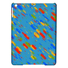 Colorful shapes on a blue background Apple iPad Air Hardshell Case