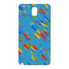 Colorful shapes on a blue background Samsung Galaxy Note 3 N9005 Hardshell Back Case