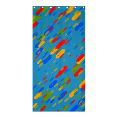 Colorful shapes on a blue background Shower Curtain 36  x 72  (Stall)