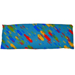Colorful shapes on a blue background Body Pillow Case Dakimakura (Two Sides)