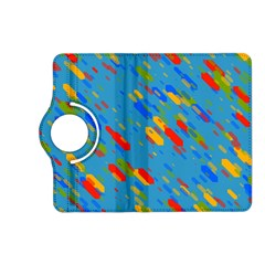 Colorful shapes on a blue background Kindle Fire HD (2013) Flip 360 Case