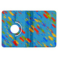 Colorful shapes on a blue background Kindle Fire HDX Flip 360 Case