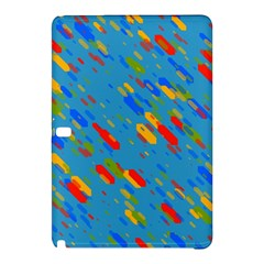 Colorful shapes on a blue background Samsung Galaxy Tab Pro 10.1 Hardshell Case